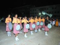 Our band students honour the Chief guest with their retreat